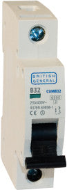 BG Electrical CUMB6 Single Pole Type B Miniature Circuit Breaker MCB 6A - BG - sparks-warehouse