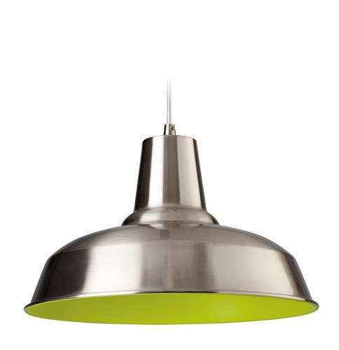 Firstlight 8623BSGN Smart Pendant - Brushed Steel with Green Inside - Firstlight - sparks-warehouse