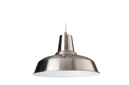 Firstlight 8623BSWH Smart Pendant - Brushed Steel with White Inside - Firstlight - sparks-warehouse