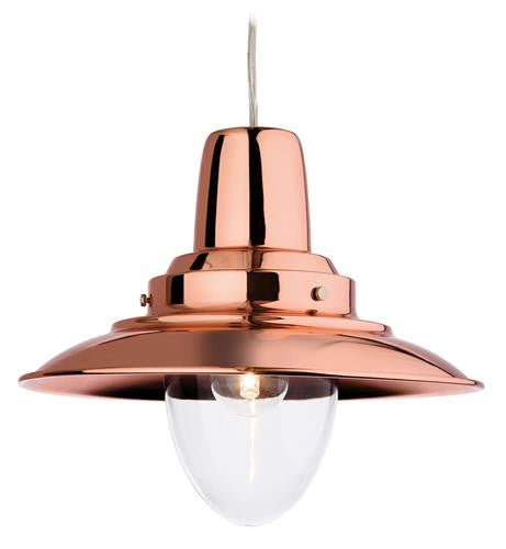 Firstlight 8645CP Fisherman Pendant - Copper with Clear Glass - Firstlight - sparks-warehouse