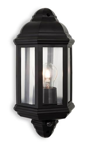 Firstlight 8656BK Park Wall Light with PIR - Black Polycarbonate