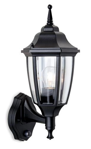 Firstlight 8663BK Faro Lantern - Uplight with PIR - Black - Firstlight - sparks-warehouse