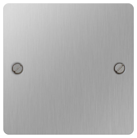 BG SBS94 Flat Plate Brushed Steel 1 Gang Blank Plate