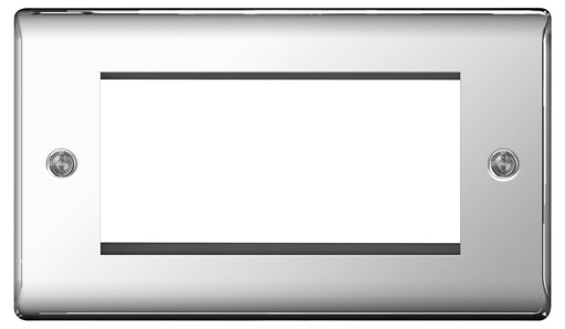 BG Nexus NPCEMR4 Polished Chrome 4 Module  Front Plate (100 X 50) - BG - sparks-warehouse