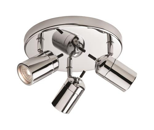 Firstlight 9070CH Atlantic 3 Light Flush - Chrome