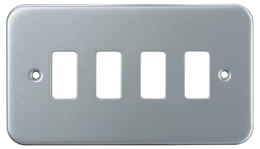 BG Nexus GMC4 Grid METAL CLAD 4 Gang Front Plate - BG - sparks-warehouse
