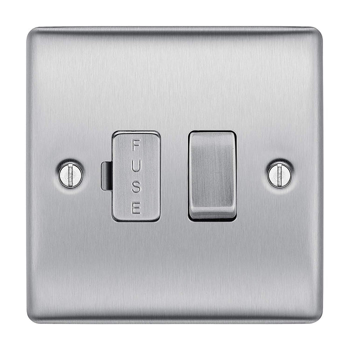 BG Nexus NBS50 Brushed Steel 13A Fused Connection Unit Switched