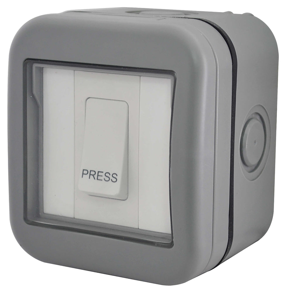 BG Nexus Storm WPB14 Weatherproof IP55 10A 1 Gang Bell Push - BG - sparks-warehouse