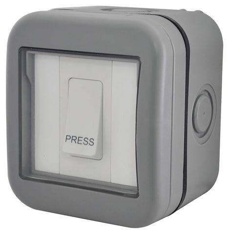 BG WPB14 Weatherproof IP55 10A 1 Gang Bell Push