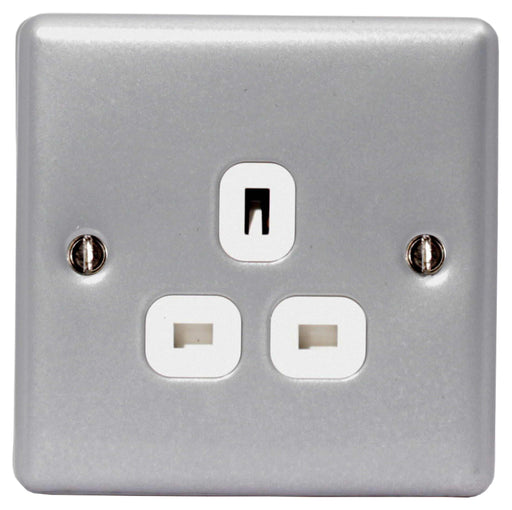 BG MC523 Metal Clad 13A 1 Gang Unswitched Socket - BG - sparks-warehouse