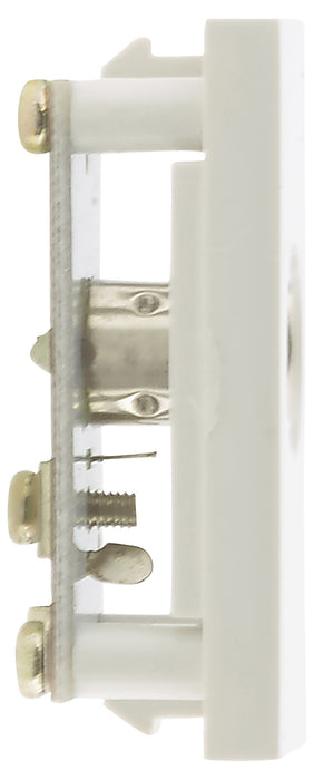 BG EMNSTVW Single Co-Axial Female White Module (25 X 50mm) - BG - sparks-warehouse