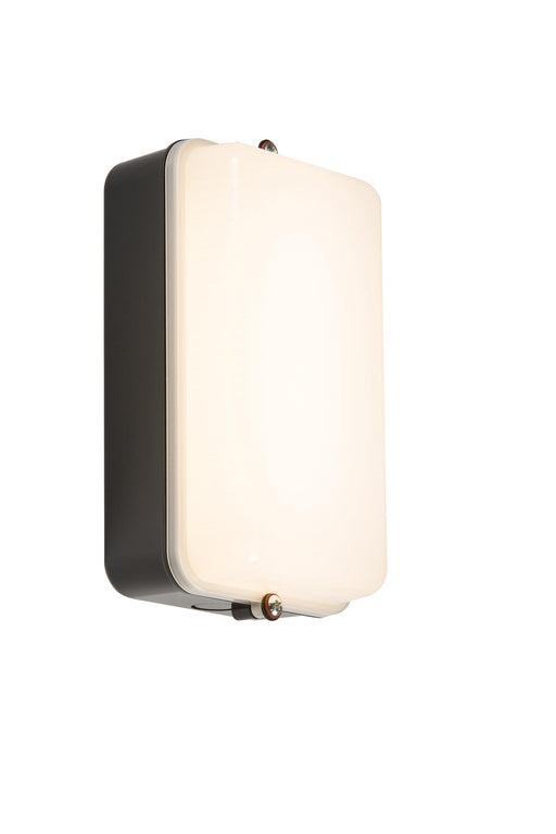 Knightsbridge AMLEDBS 230V 5W IP54 Amenity Black/Opal LED Bulkhead with Sensor - Knightsbridge - Sparks Warehouse
