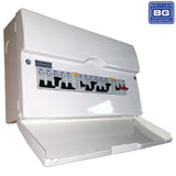CFDP18606 Metal Dual RCD & High Int Populated 6 Way Consumer Unit with Switch & 6 MCBs, 12 Module