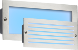 Knightsbridge BLED5SB 230V IP54 5W Blue LED Brick Light - Brushed Steel Fascia - Knightsbridge - Sparks Warehouse