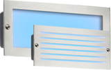 Knightsbridge BLED5SB 230V IP54 5W Blue LED Brick Light - Brushed Steel Fascia