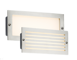 Knightsbridge BLED5SW 230V IP54 5W WHITE LED BRICK LIGHT - BRUSHED STEEL FASCIA