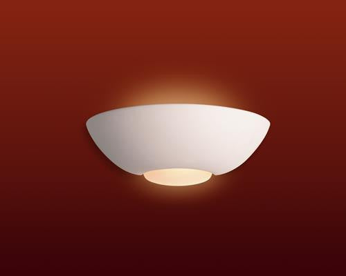 Firstlight C315UN Ceramic Wall Light - 100w - Unglazed with Acid White Glass