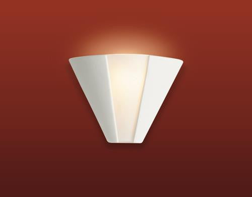 Firstlight C332UN Ceramic Wall Light - 100w - Unglazed with Acid White Glass