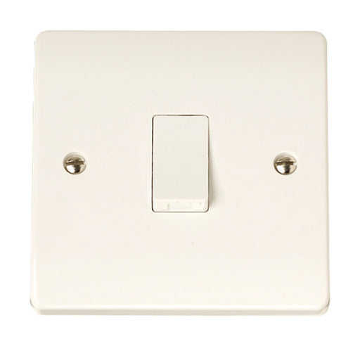 Scolmore Click CCA010 1 Gang 1 Way Plate Switch - White Plastic - Scolmore - Sparks Warehouse