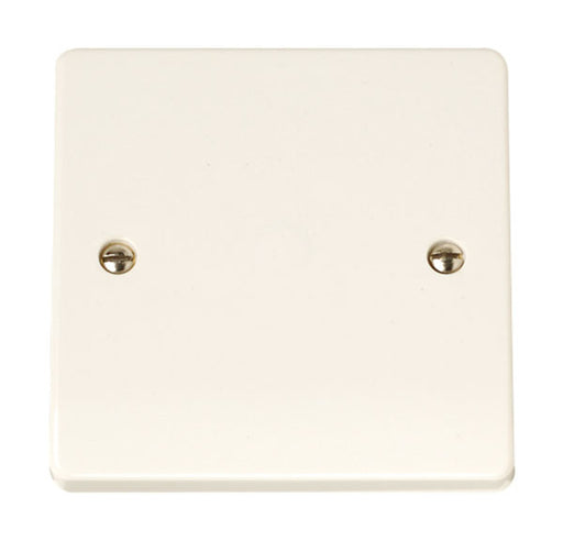 Scolmore Click CCA017 20A Flex Outlet Plate - White Plastic - Scolmore - Sparks Warehouse