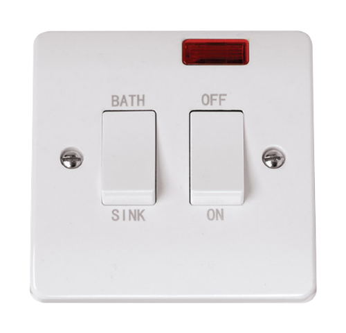 Scolmore CCA024 - 20A DP Sink Bath Switch With Neon - Scolmore - Sparks Warehouse