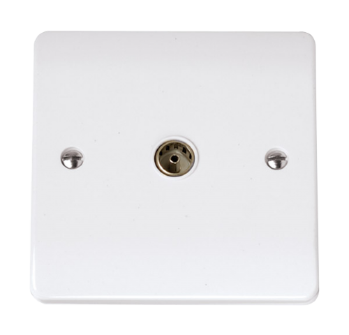 Scolmore CCA065 - Single Coaxial Outlet - Scolmore - Sparks Warehouse