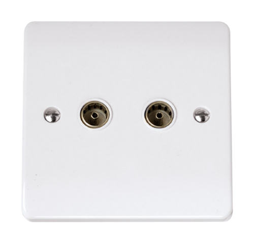 Scolmore CCA066 - Twin Coaxial Outlet - Scolmore - Sparks Warehouse