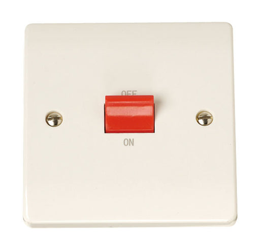 Scolmore Click CCA200 45A 1 Gang Cooker Switch - White Plastic - Scolmore - Sparks Warehouse