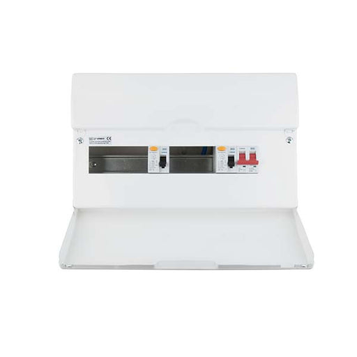 BG CFD8610 10 Way Flexible Dual RCD Metal Consumer Unit - 16 Module - BG - Sparks Warehouse