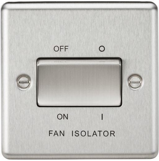 Knightsbridge CL11BC 10A 3 Pole Fan Isolator Switch - Rounded Edge Brushed Chrome