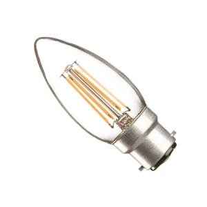 Casell CL4BC-82DP-CA Filament B22d Dimmable LED Candle 240v 4w - Casell - Sparks Warehouse