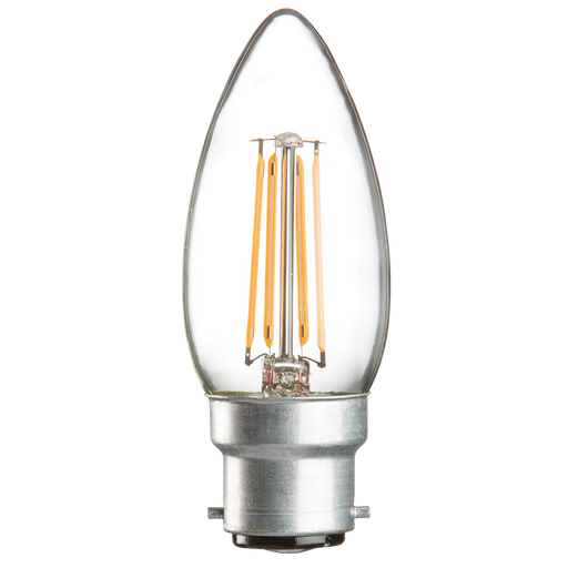 Knightsbridge CL4BCC 230V 4W LED 35mm Candle BC Clear - Knightsbridge - sparks-warehouse