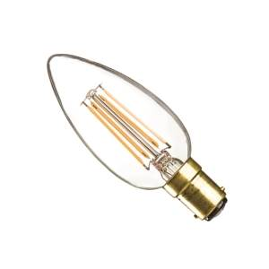 Casell CL4SBC-82DP-CA Filament B15d Dimmable LED Candle 240v 4w - Casell - Sparks Warehouse