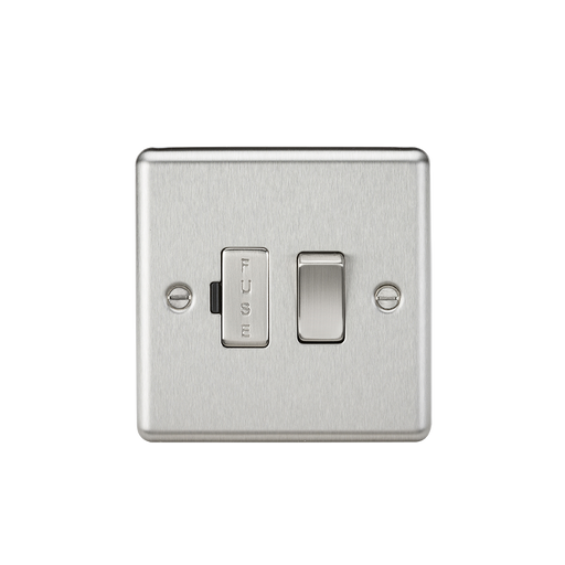 Knightsbridge CL63BC 13A Switched Fused Spur Unit - Rounded Edge Brushed Chrome