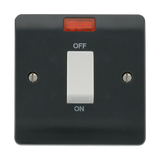 Scolmore CMA501AG - 45A 1 Gang DP Switch With Neon