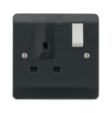 Scolmore CMA735AG - 13A 1 Gang DP Switched Locating Plug Socket