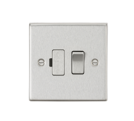 Knightsbridge CS63BC 13A Switched Fused Spur Unit - Square Edge Brushed Chrome