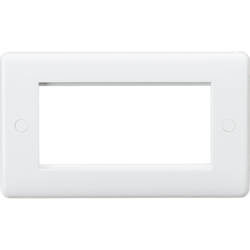 Knightsbridge CU4G White Curved Edge 4G Modular Faceplate - Knightsbridge - Sparks Warehouse