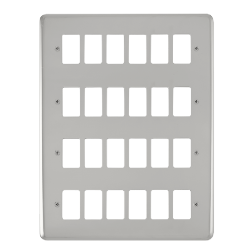 Scolmore DPCH20524 - 24 Gang GridPro® Frontplate - Polished Chrome - Scolmore - Sparks Warehouse