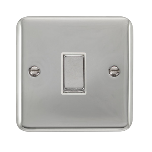 Scolmore DPCH425WH - 10AX Ingot 1 Gang Intermediate Plate Switch - White - Scolmore - Sparks Warehouse
