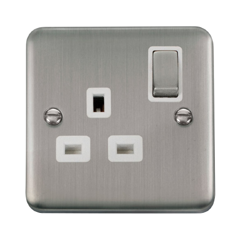 Scolmore DPSS535WH - 13A Ingot 1 Gang DP Switched Socket - White - Scolmore - Sparks Warehouse