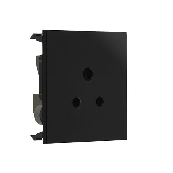 BG EM2ASB 2A Round Pin Unswitched Socket Module Black - BG - sparks-warehouse