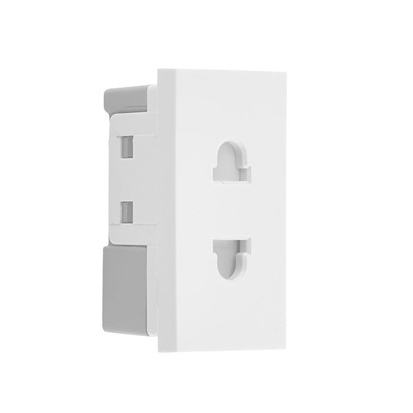 BG EMEUSW Euro Socket 16A Unswitched Module White (25 X 50mm) - BG - sparks-warehouse
