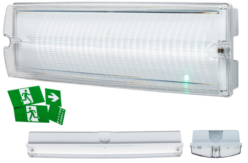 Knightsbridge EMLED3 230V IP65 4W LED Bulkhead 3 HOUR Emergency - Knightsbridge - Sparks Warehouse