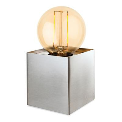 Firstlight 5926BS Richmond Table Lamp with LED Vintage Filament Lamp - Brushed Steel - Firstlight - Sparks Warehouse