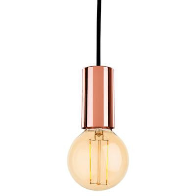 Firstlight 5927CP Berkeley Pendant with LED Vintage Filament Lamp - Firstlight - Sparks Warehouse