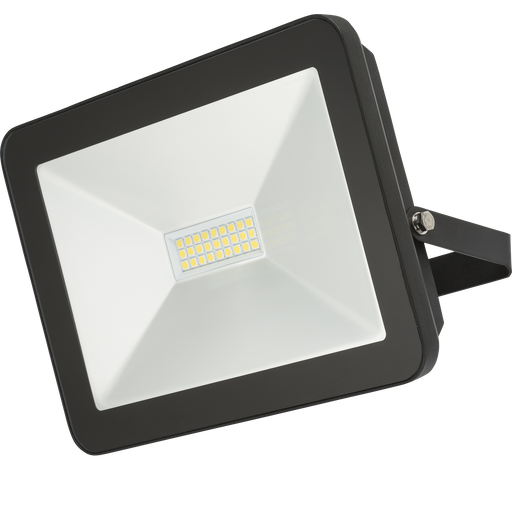 Knightsbridge FLF100 IP65 100W LED Black Die-Cast Aluminium FloodLight 4000K - Knightsbridge - Sparks Warehouse