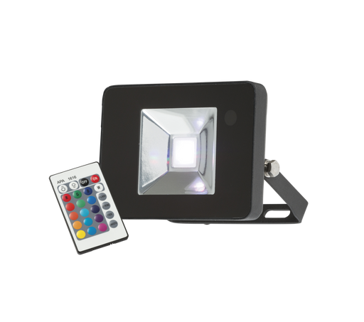 Knightsbridge FLF10RGB IP65 10W RGB LED Black Die-Cast Aluminium FloodLight - Knightsbridge - Sparks Warehouse