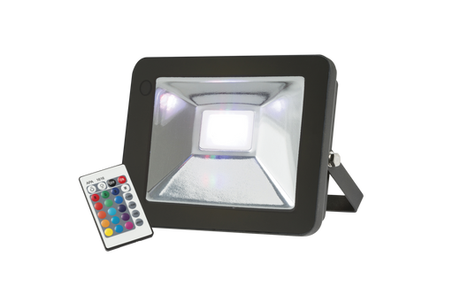 Knightsbridge FLF30RGB IP65 30W RGB LED Black Die-Cast Aluminium FloodLight - Knightsbridge - Sparks Warehouse
