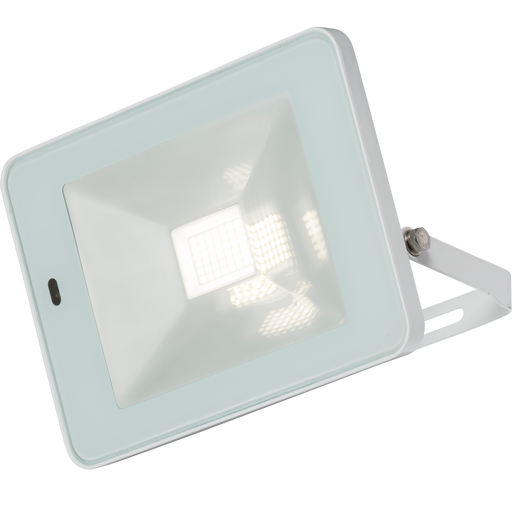 Knightsbridge FLF30WM 230V IP65 30W LED White Floodlight with Microwave Sensor 4000K - Knightsbridge - Sparks Warehouse